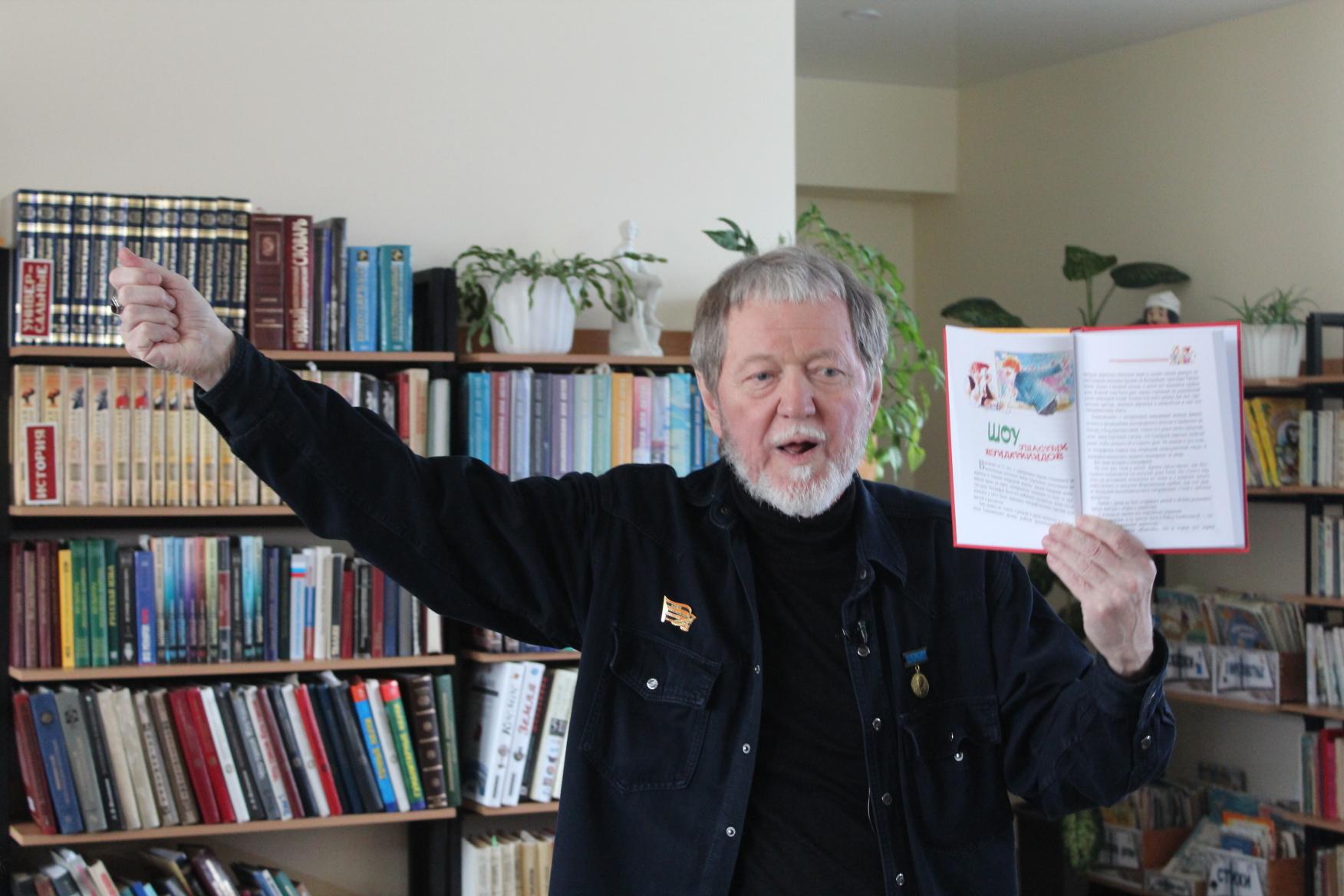 Член Союза писателей России Геннадий Киселев встретился с волгодонскими школьниками